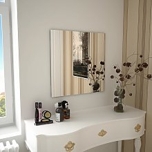 vidaXL Espejo de pared cuadrado vidrio 60x60 cm