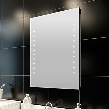 vidaXL Espejo de pared de baño con luces LED