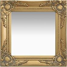 vidaXL Espejo de pared estilo barroco dorado 40x40