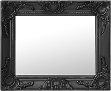 vidaXL Espejo de pared estilo barroco negro 50x40