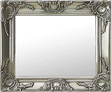 vidaXL Espejo de pared estilo barroco plateado
