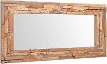 vidaXL Espejo decorativo de teca 120x60 cm
