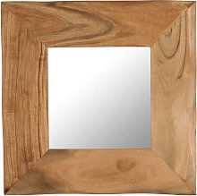 vidaXL Espejo para maquillaje de madera maciza de