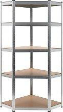 vidaXL Estantería de acero y MDF 75x75x180 cm