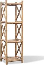 vidaXL Estantería de Bambú Cuadrada de 4 Niveles