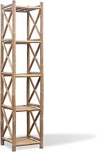 vidaXL Estantería de Bambú Cuadrada de 5 Niveles