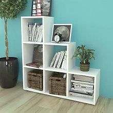 vidaXL Estantería librería en forma de escalera
