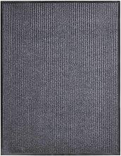 vidaXL Felpudo de PVC gris 160x220 cm