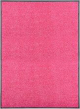 vidaXL Felpudo lavable rosa 90x120 cm