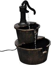 vidaXL Fuente con diseño de bomba de pozo