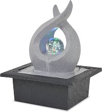 vidaXL Fuente de agua de interior con luz LED de