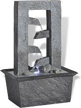vidaXL Fuente de agua para interior con luz LED