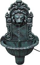 vidaXL Fuente de pared diseño cabeza de león