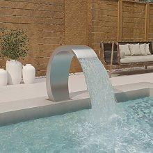 vidaXL Fuente de piscina de acero inoxidable 304