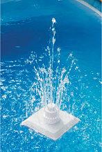 vidaXL Fuente griega de piscina 13 piezas blanca