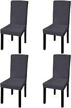 vidaXL Funda para silla elástica recta 4 unidades