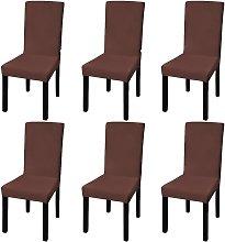 vidaXL Funda para silla elástica recta 6 unidades