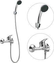 vidaXL Grifo monomando de ducha/bañera con flexo
