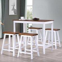 vidaXL Juego de mesa alta y taburete de cocina 5