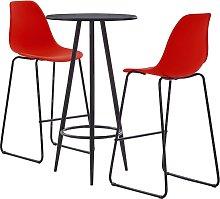 vidaXL Juego de mesa alta y taburetes 3 piezas