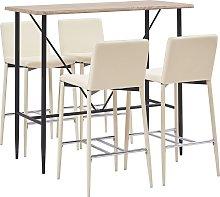 vidaXL Juego de mesa alta y taburetes 5 piezas