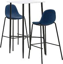 vidaXL Juego de mesa alta y taburetes de cocina 3