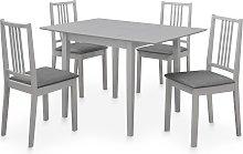 vidaXL Juego de muebles de comedor 5 piezas MDF
