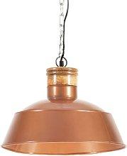 vidaXL Lámpara colgante industrial 42 cm cobre