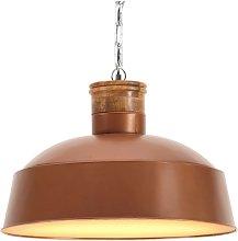 vidaXL Lámpara colgante industrial 58 cm cobre
