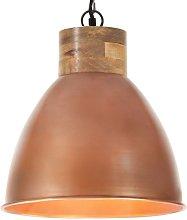 vidaXL Lámpara colgante industrial hierro cobre y