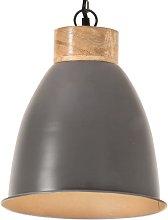 vidaXL Lámpara colgante industrial hierro gris y