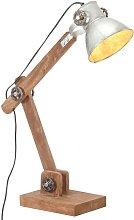 vidaXL Lámpara de mesa industrial plateada