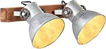 vidaXL Lámpara de pared industrial plateado 45x25