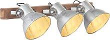 vidaXL Lámpara de pared industrial plateado 65x25