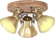 vidaXL Lámpara de techo industrial 25 W latón