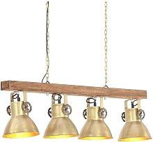 vidaXL Lámpara de techo industrial madera de