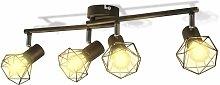 vidaXL Lámpara LED de Techo Estilo Industrial