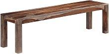 vidaXL Madera Maciza de Sheesham banco Gris 160 cm