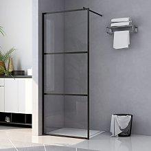 vidaXL Mampara ducha accesible vidrio ESG