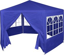 vidaXL Marquesina con 6 paredes laterales azul 2x2