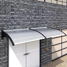 vidaXL Marquesina para puerta PC 240x100 cm -