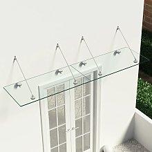 vidaXL Marquesina para puerta vidrio de seguridad