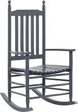 vidaXL Mecedora con asiento curvado madera de