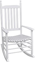 vidaXL Mecedora de madera con asiento curvado