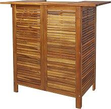vidaXL Mesa alta de bar de madera de acacia maciza