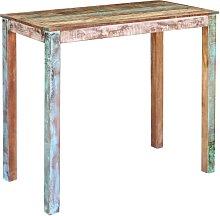 vidaXL Mesa alta de bar de madera maciza reciclada