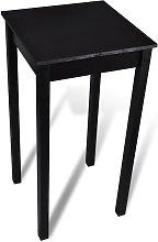 vidaXL Mesa alta de bar negra de MDF 55x55x107 cm