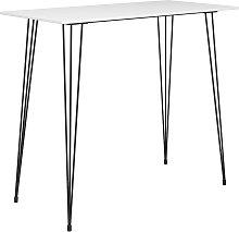 vidaXL Mesa alta de cocina blanco 120x60x105 cm