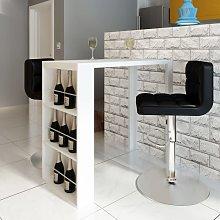 vidaXL Mesa alta de cocina con estantes para