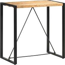 vidaXL Mesa alta de cocina de madera maciza de